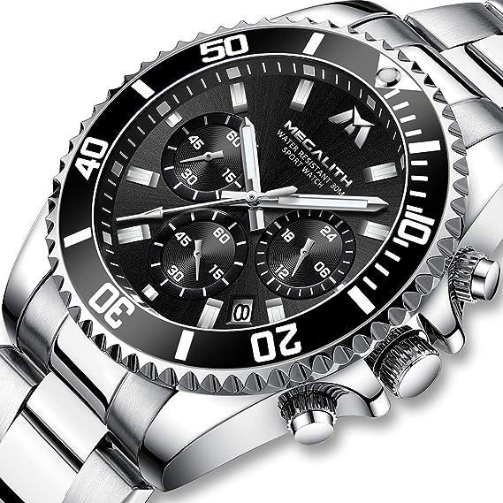 Relojes Hombre Relojes Grandes de Pulsera Militares Cronografo Lujo Diseñador Luminosos Impermeable Reloj Hombre Deportivos de