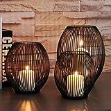 Bada Bing 2er Set Kerzenhalter Metall Nordic Schwarz