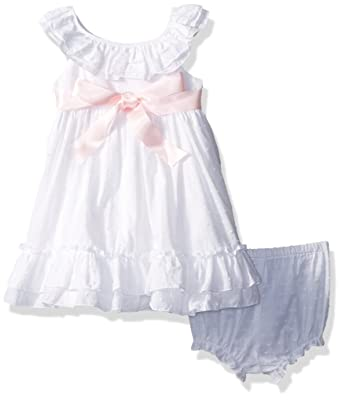 Amazon Com Laura Ashley London Baby Girls Ruffle Collar Party