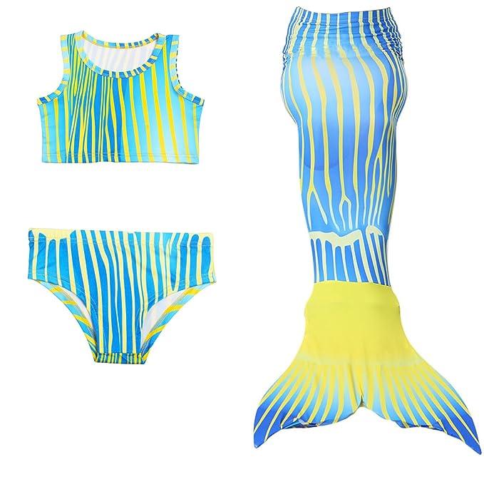 JoyChic Cola de Sirena para Nadar Sirena Bikini Set Traje de ...