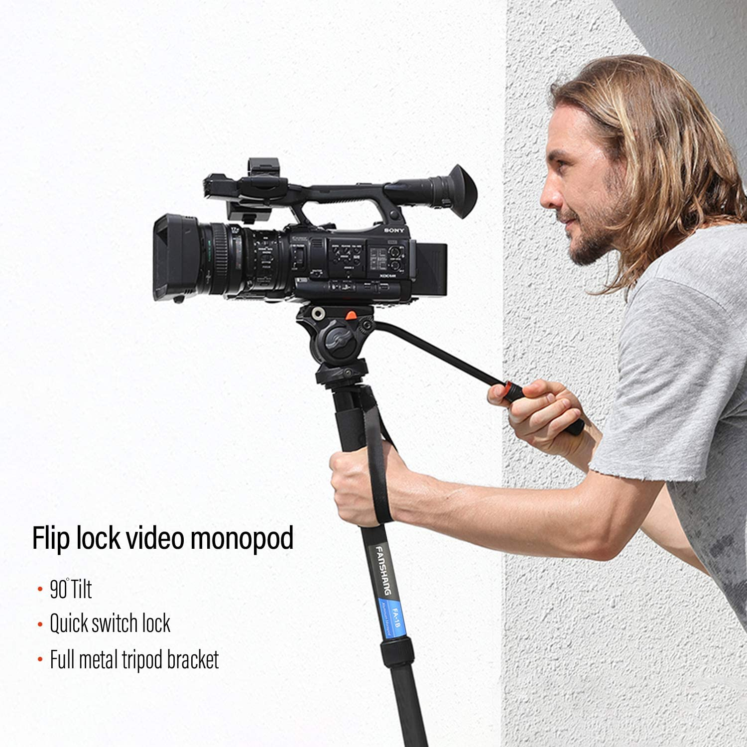 Professional Black 72 Monopod//Unipod Quick Release for Canon Powershot S5 is