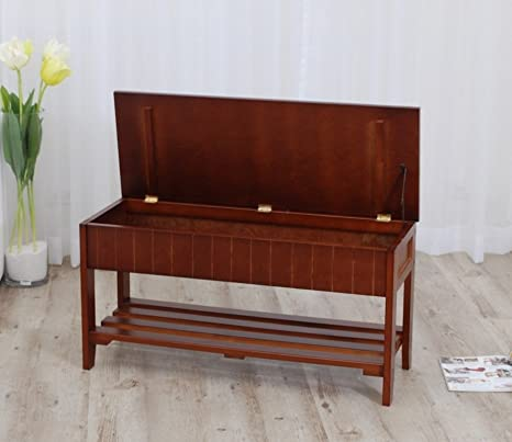 Fantastic Legacy Decor Solid Wood Shoe Bench Rack With Storage Walnut Finish Alphanode Cool Chair Designs And Ideas Alphanodeonline