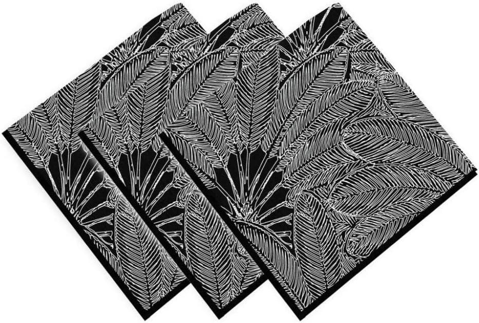 Soleil docre Oasis - Servilleta, algodón, 45 x 45 cm, Color Negro ...