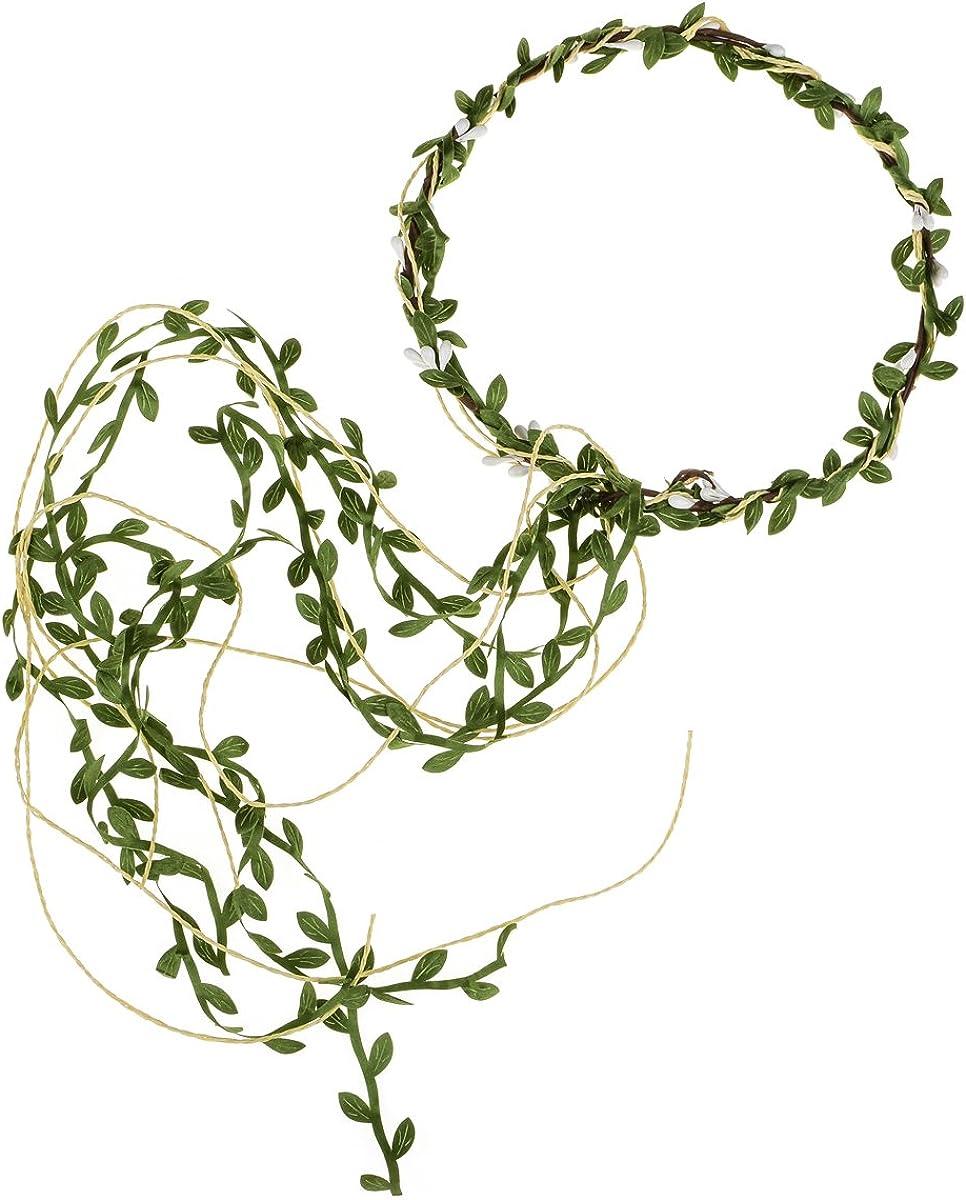 Floral Fall Adjustable Bridal Flower Garland Headband Flower Crown Hair Wreath Halo F-83