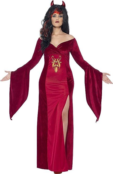 Smiffys - Disfraz Diablo con Vestido y Cuernos para Mujeres ...