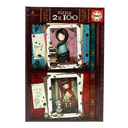 Educa Borrás- Gorjuss Puzzle 2X100 Little Red Riding Hood (17822)