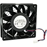 HIGHFINE 12cm 120mm 200CFM 4000RPM CPU Cooling Fan FFC1212DE 12V DC 3-Pin 3-Wire PC Computer High CFM Cooling Case Fan…