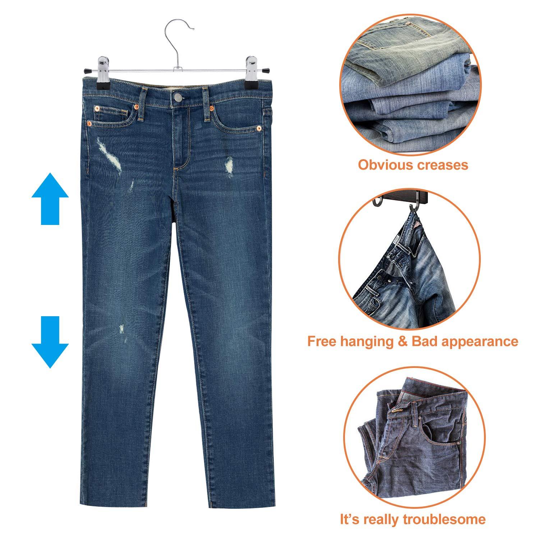 Amazon.com: IEOKE - Perchas para pantalones, perchas para ...