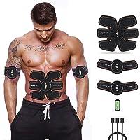 Estimulador Muscular Electrico AB Toner ABS Estimulador Entrenador Abdominal Electroestimulador Muscular para abdomen/brazo/pierna para hombres y mujeres