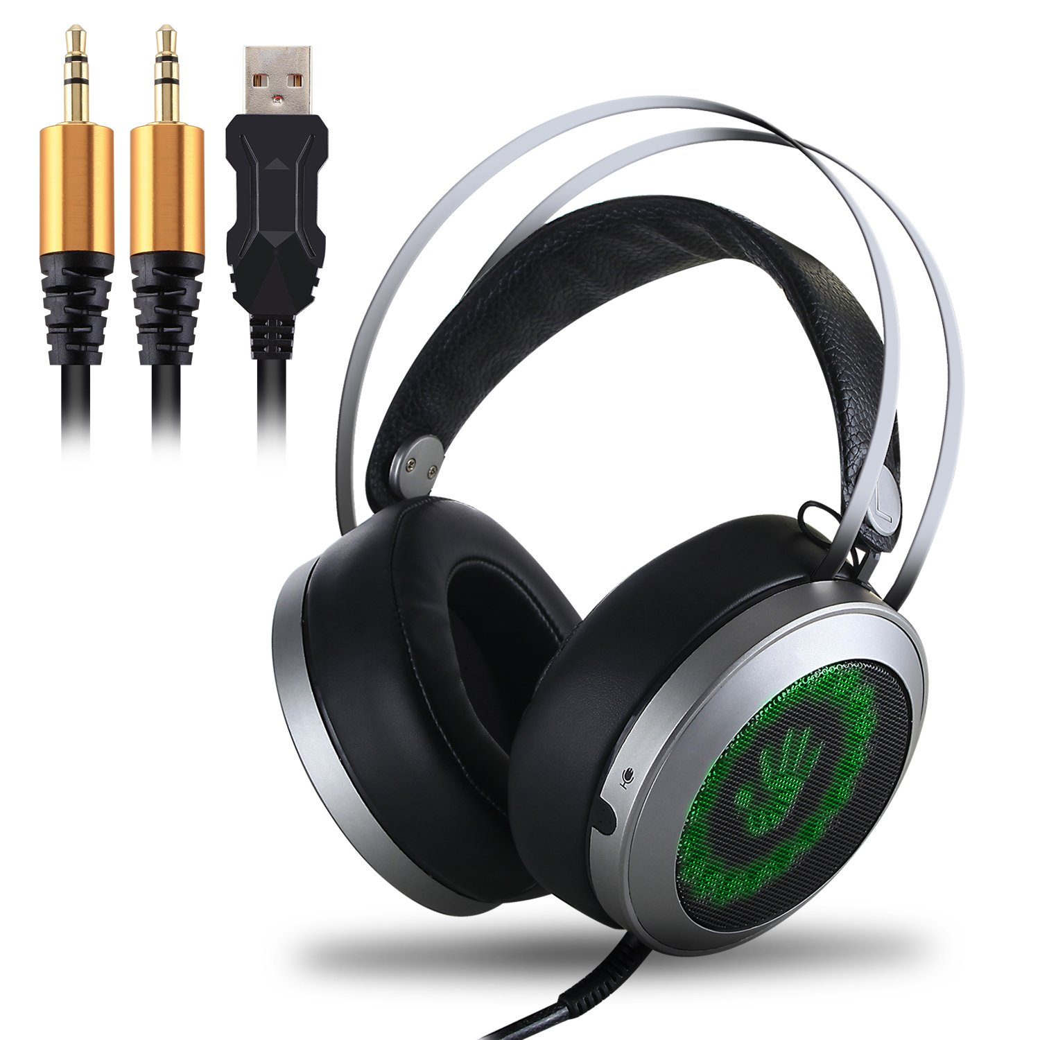 LED Gaming Headset, Etpark Color-Changing Breathing LED Light Wired Gaming  Headset PC Headset with Microphone 3.5mm Stereo Over-ear Headphones for PC  Laptop ...