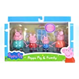 Jazwares Peppa The Pig Family Pack of 3 Inch Figures: Daddy, Mammy, George and Peppa