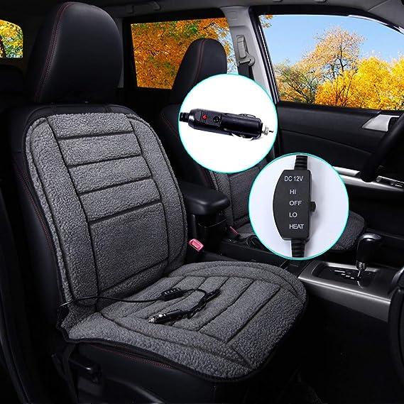 adapter healing PAIR Heated thermo car van seat cushion pad cover heating 12v