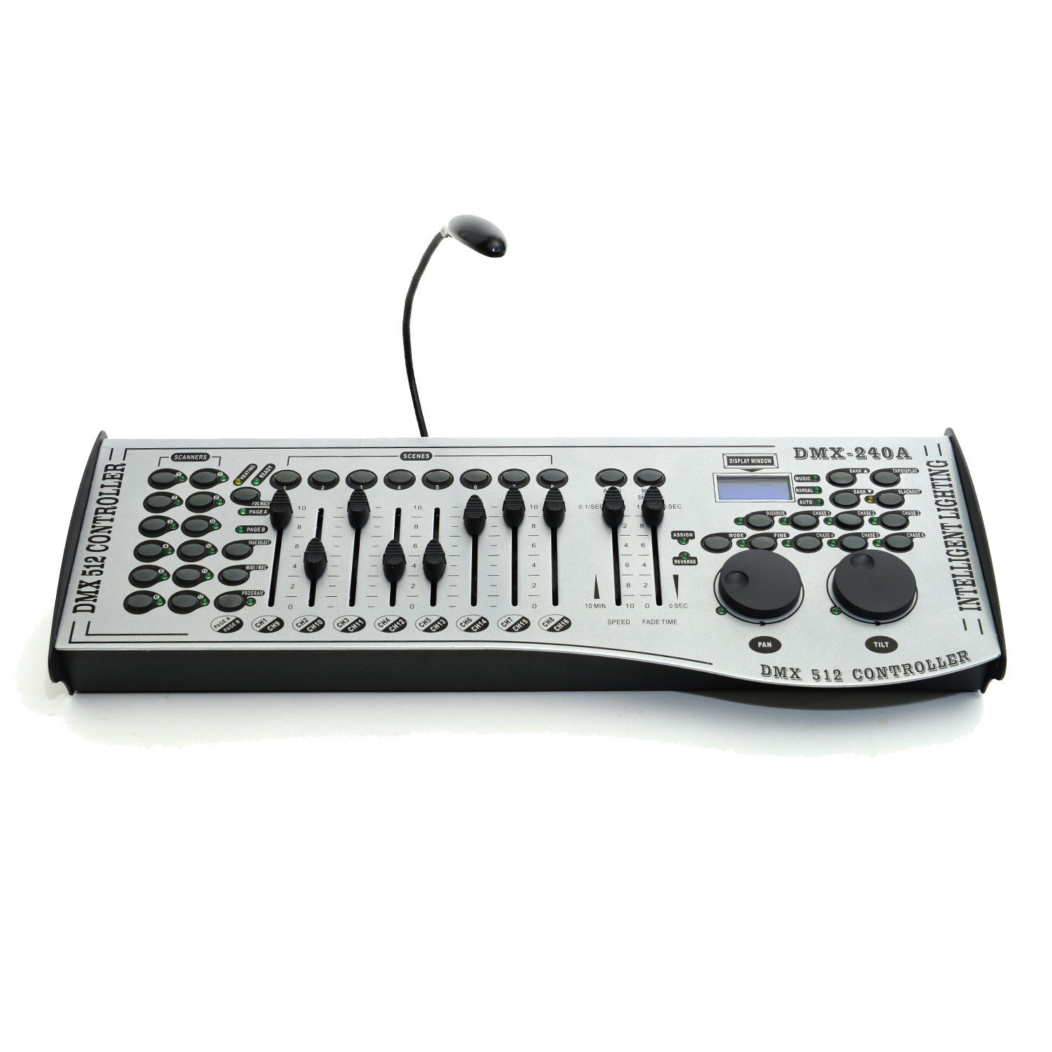 Dmx 512 Metallic Housing Controller 12 Lights 16 5 Pin Wiring Channels 240 Scenes For Stage Lighting Dj Lasers Moving Heads Par Musical