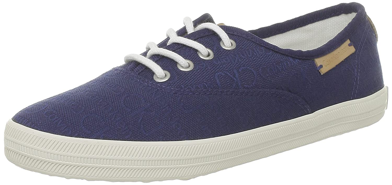 Calvin Klein Jeans RICHELLE CKJ JACQUARD/GROSGRAIN - Zapatos con cordones de lona mujer 37 EU|Azul - Blau (Blu)