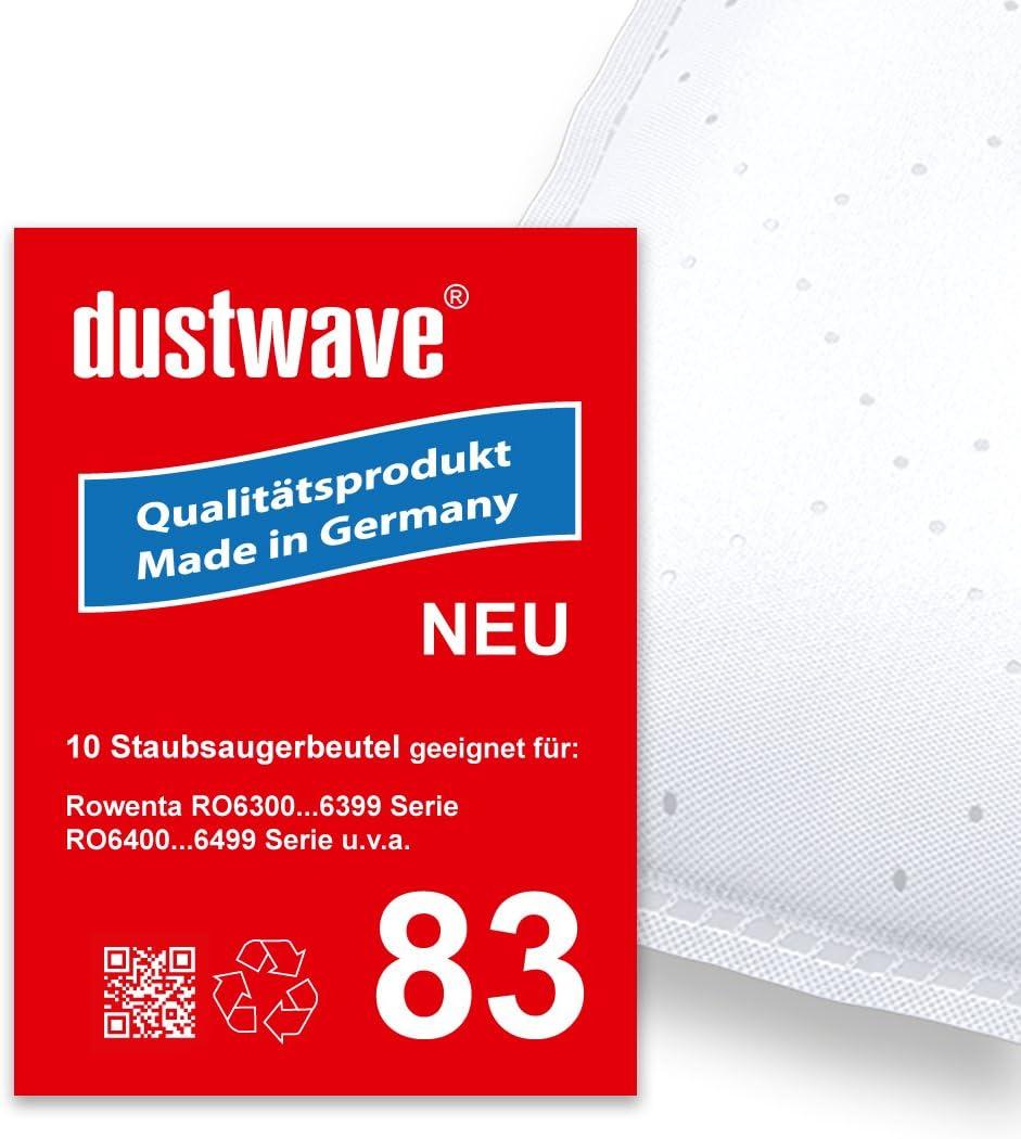 Pack de ahorro – 10 bolsas para aspiradoras Rowenta – Silence Force Compact ro6357 – Aspiradora – dustwave® Marca Bolsa para el polvo Fabricado en Alemania.: Amazon.es: Hogar
