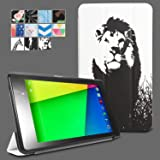 Google Nexus 7 2013 Case - Poetic Google Nexus 7 2013 Case [CoverMATE Series] - [Lightweight] [Art Print] Protective Slim Cover Case for Google Nexus 7 2nd Gen 2013 Lion (3 Year Manufacturer Warranty From Poetic)