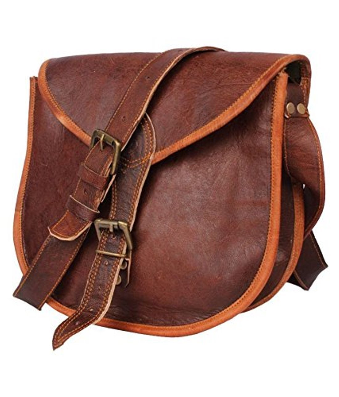 Brown 226 Vintage Brown Leather Messenger Bag