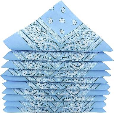 KARL LOVEN – Lote de pañuelos 100% algodón Paisley pañuelo fichu ...