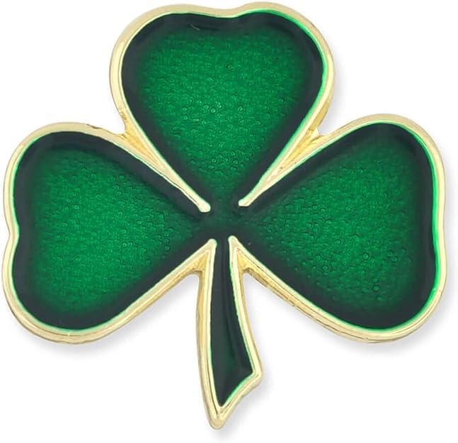 Quality Lucky IRISH St Patricks Day Green Shamrock Gilt//Enamel Lapel Pin Badge