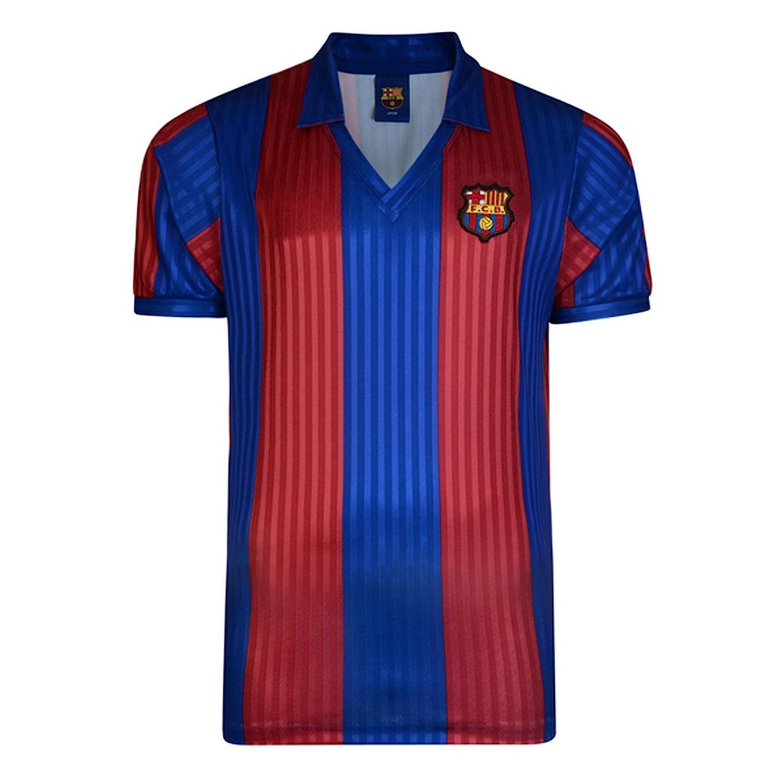 a68c2854ad005 FC Barcelona - Camiseta oficial de FC Barcelona retro 1992 para hombre   Amazon.es
