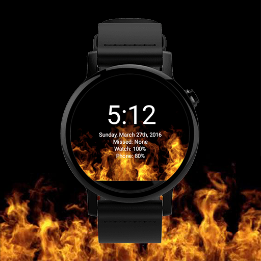 Animated Flames Watch Face ()