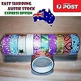 10pcs JD9Q Decorative Glitter Washi Tape Adhesive Set Japanese Scrapbooking - Asia Sell
