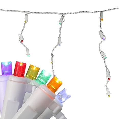 Amazon Com Set Of 60 Multi Color Led Twinkling Icicle