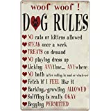 10 Dog Rules 16 X 10 Inch Tin Metal Sign