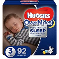 OverNites Night Time Baby Diapers, Size 3, 92 Count