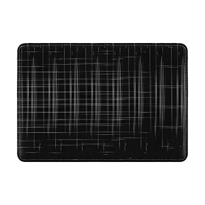 Mesh Black Background Leather Passport Holder Cover Case Travel One Pocket