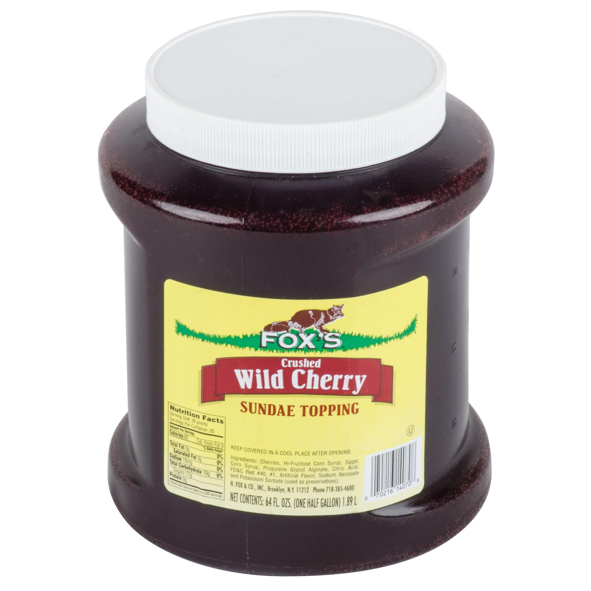 TableTop King 1/2 Gallon Cherry Ice Cream Sundae Topping - 6/Case by TableTop King (Image #1)