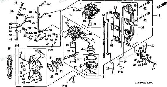 R44 Genuine Honda Marine 16221-ZW2-000 Carburetor Gasket New Factory Boat Parts