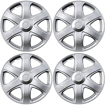 Amazon.com: OxGord Hub-caps for 03-14 Toyota Matrix (Pack of 4) Wheel Covers 16 inch Snap On Silver: Automotive
