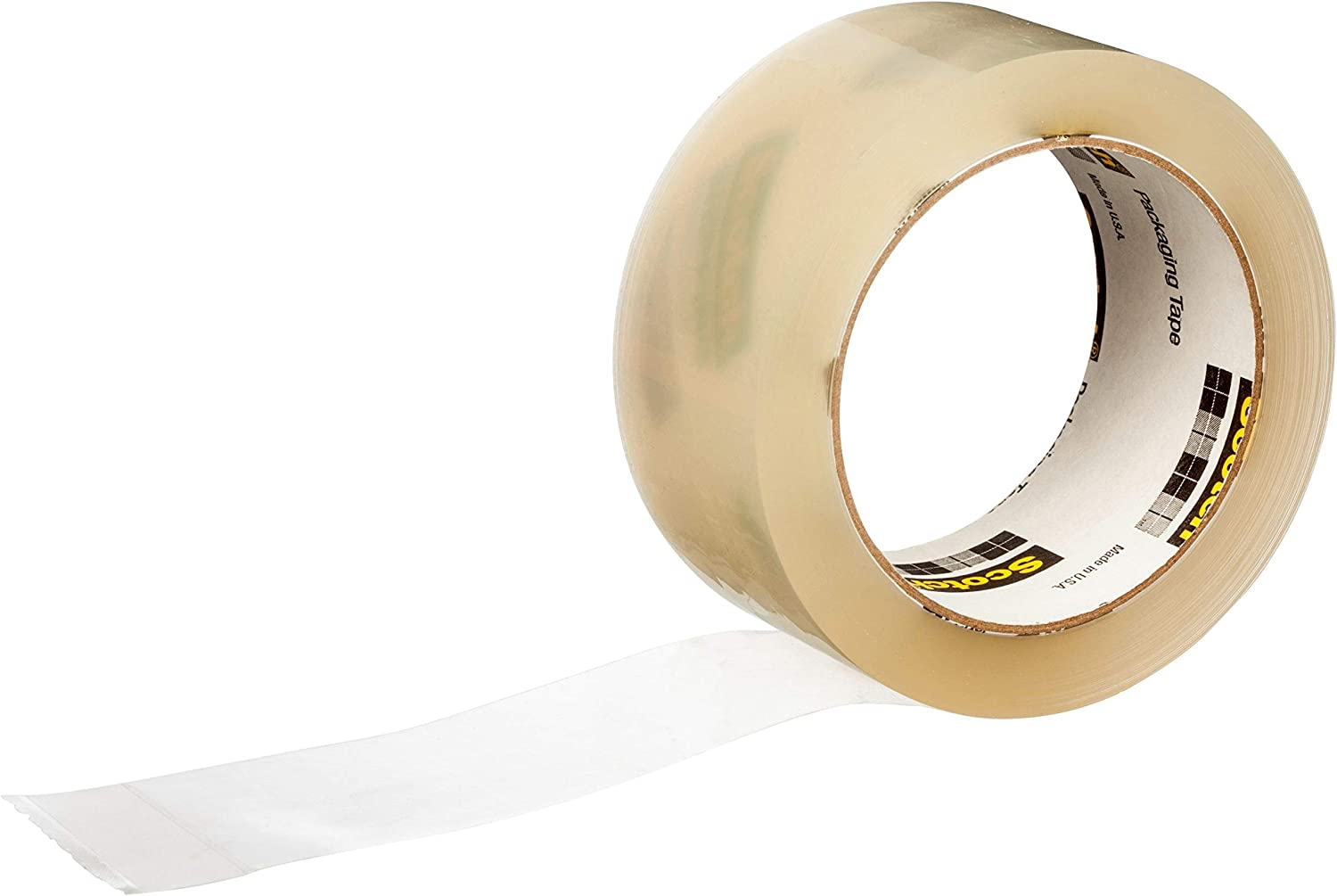 """Scotch Commercial Grade Shipping Packaging Tape, 6 Rolls, Excellent Holding Power, 3"""" Core, 1.88 in x 54.6 yd (3750-6), No Dispenser : Office Products"""