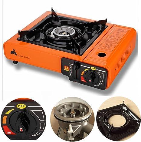 Eight24hours Hornillo de butano de propano portátil de 8 24 Horas para Picnic al Aire Libre, Campamento, Quemador de Gas, Cocina + Libro