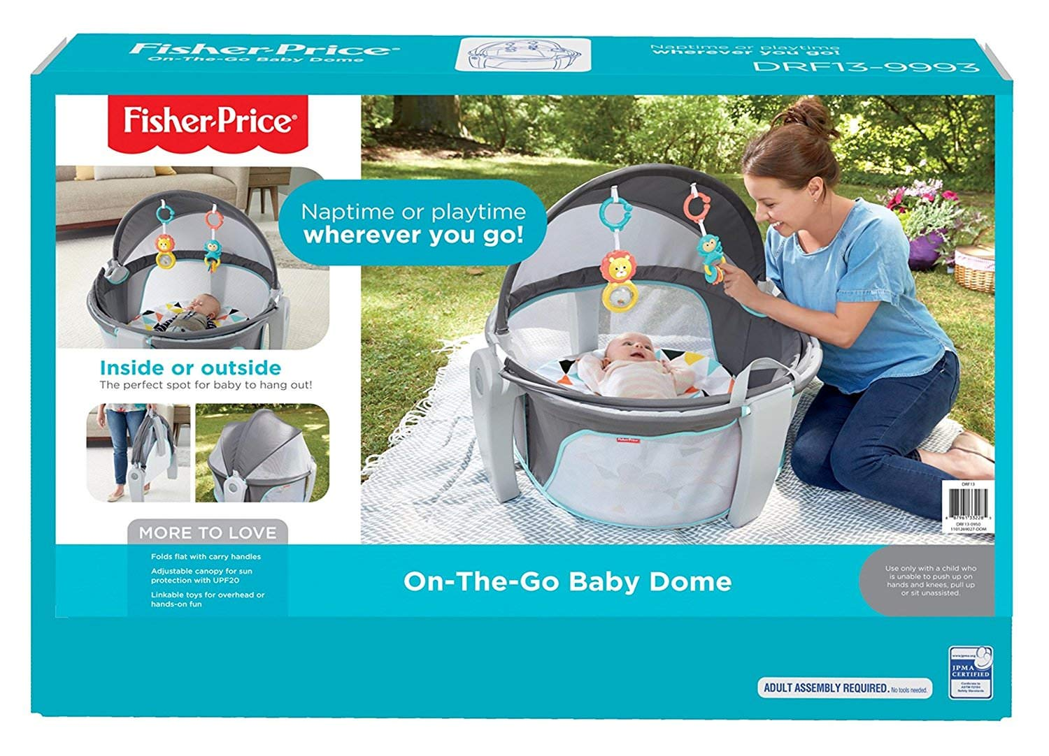 Amazon.com: Fisher-Price On-the-Go Baby Dome, 2 Pack: Kitchen & Dining