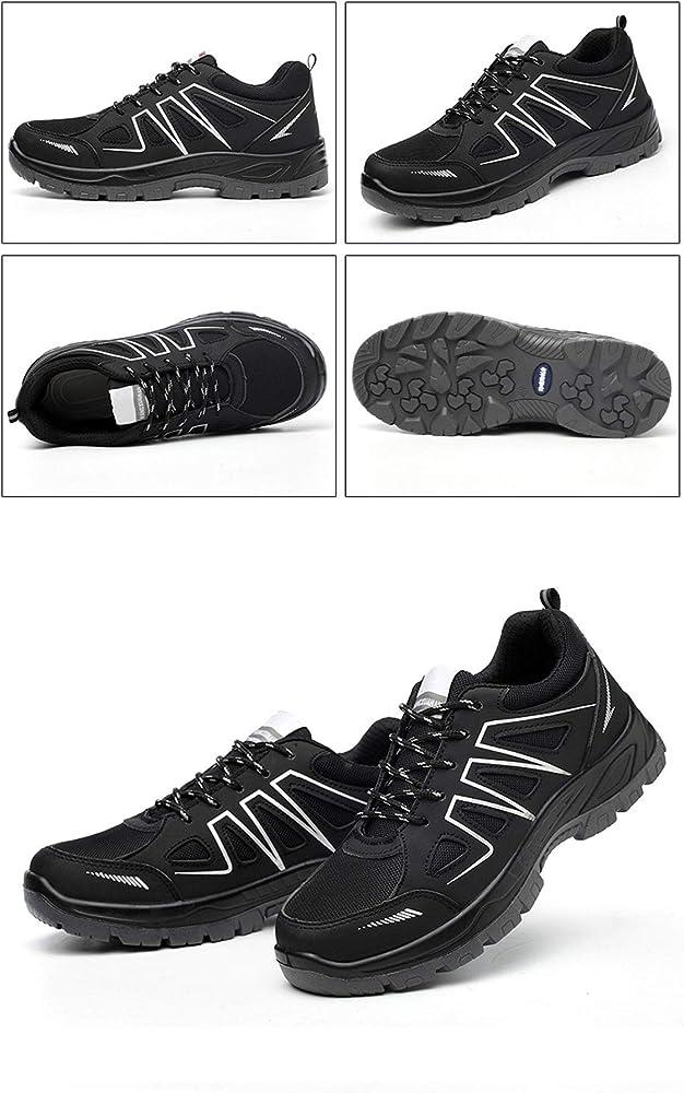 JIEFU Hombre Mujer Zapatillas de Seguridad S3 con Puntera de ...