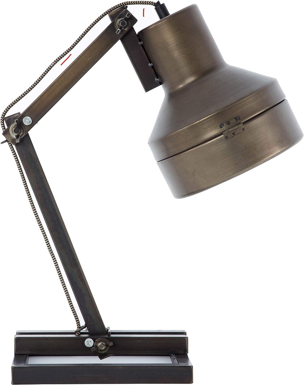 BRILLIANT lamp Hardwork table lamp negro acero | 1x A60, E27, 28W, adecuado para lámparas normales (no incluidas) | Escala A ++ a E | Con interruptor de cable: Amazon.es: Iluminación
