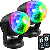 Chongerfei [2-Pack] Portable Sound Activated Party Lights for Outdoor and Indoor, Battery Powered/USB Plug in, Dj…
