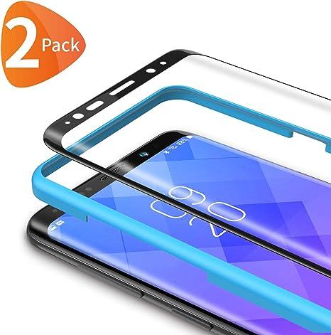 Bewahly Cristal Templado para Samsung Galaxy S8 Plus [2 Piezas ...