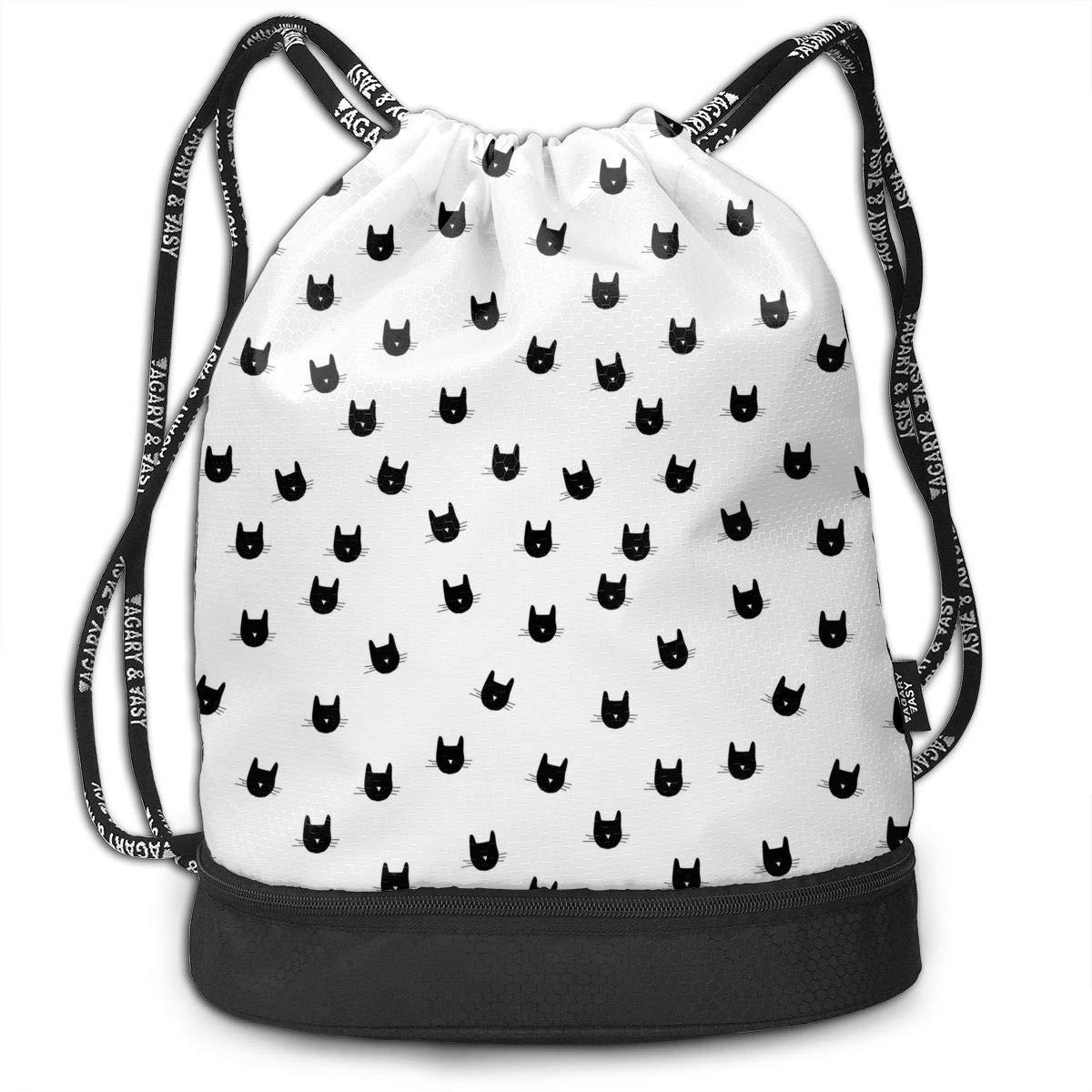 986407ded101 Amazon.com: HUOPR5Q Cat111 Drawstring Backpack Sport Gym Sack ...