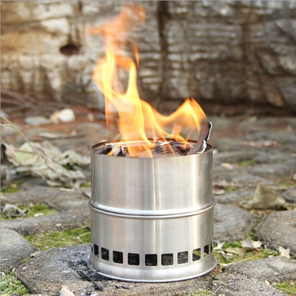 Amazon.com : Lixada Portable Stainless Steel Lightweight Wood Stove Alcohol  Stove Burner Outdoor Cooking Picnic BBQ Camping : Sports & Outdoors - Amazon.com : Lixada Portable Stainless Steel Lightweight Wood