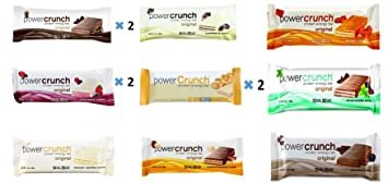 54c7c2923a6c8 Amazon.com  Power Crunch Protein Energy Bar Variety All 9 Flavors 12 ...