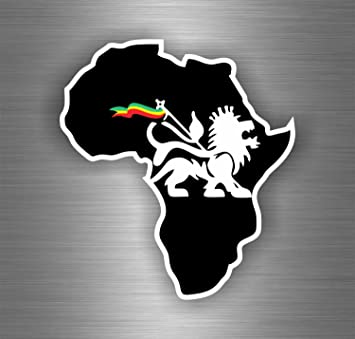 Akachafactory Selbstklebend Sticker Auto Rasta Reggae One Love Löwe Jamaikanische Flagge Afrika Auto