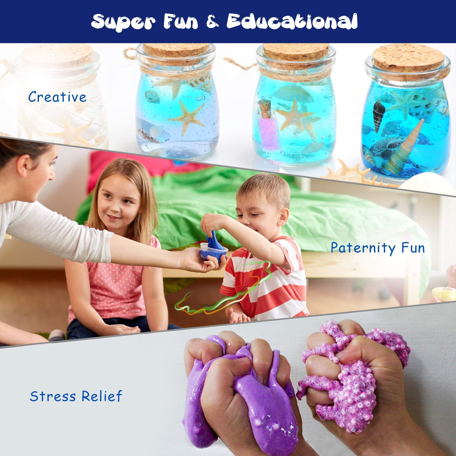 Super Soft Sludge Toy with Scary Skeleton Slime Wet Stress /& Anxiety Relief and Galaxy Slime 6PCS Joyjoz Halloween Slime Party Favor for Kids 6PCS Boys Non Sticky Galaxy Slime Kits for Girls