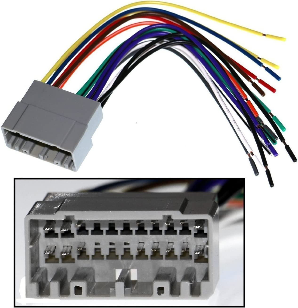 Amazon.com: American Terminal AT99-6516B Fits Compatible with 2005-07 Chrysler  300 Double DIN Stereo Harness Radio Dash KitAmazon.com