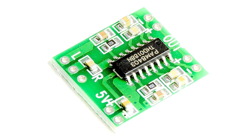 Un mini audio stéréo Amplificateur 2x 3W PAM8403pour protoyping Haut-parleur MissBirdler