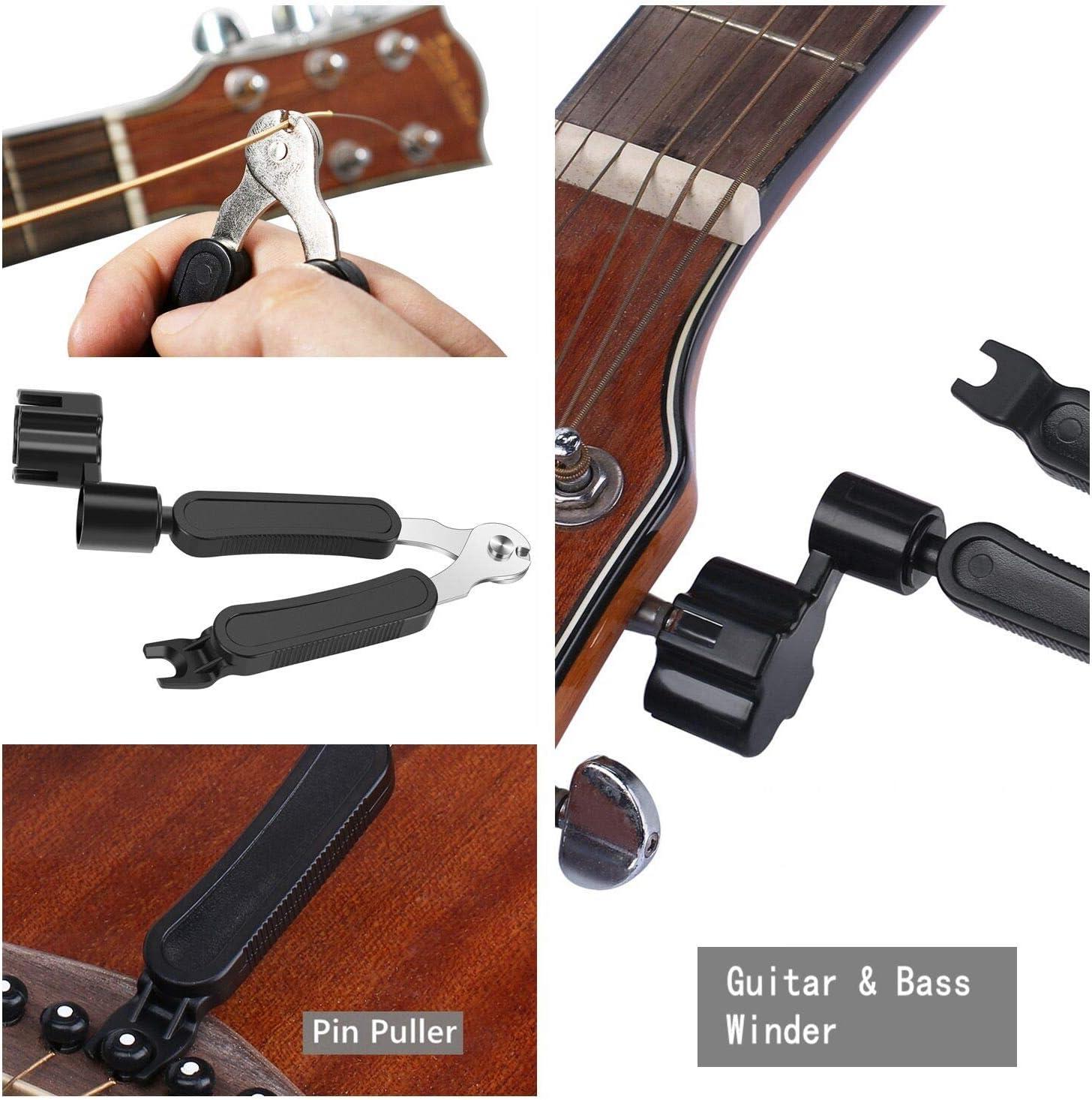 rongweiwang 3-in-1 Guitar String Winder Peg Pin Stringa avvolgitore Chitarra peg Puller Chitarra elettrica Acustica della Stringa di rimozione di Pin Strumento
