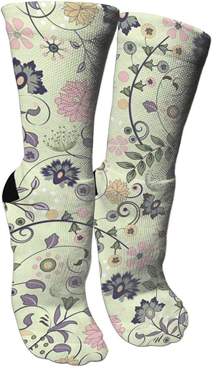 Elegant Vintage Floral Casual Socks Crew Socks Crazy Socks Soft Breathable For Sports Athletic Running