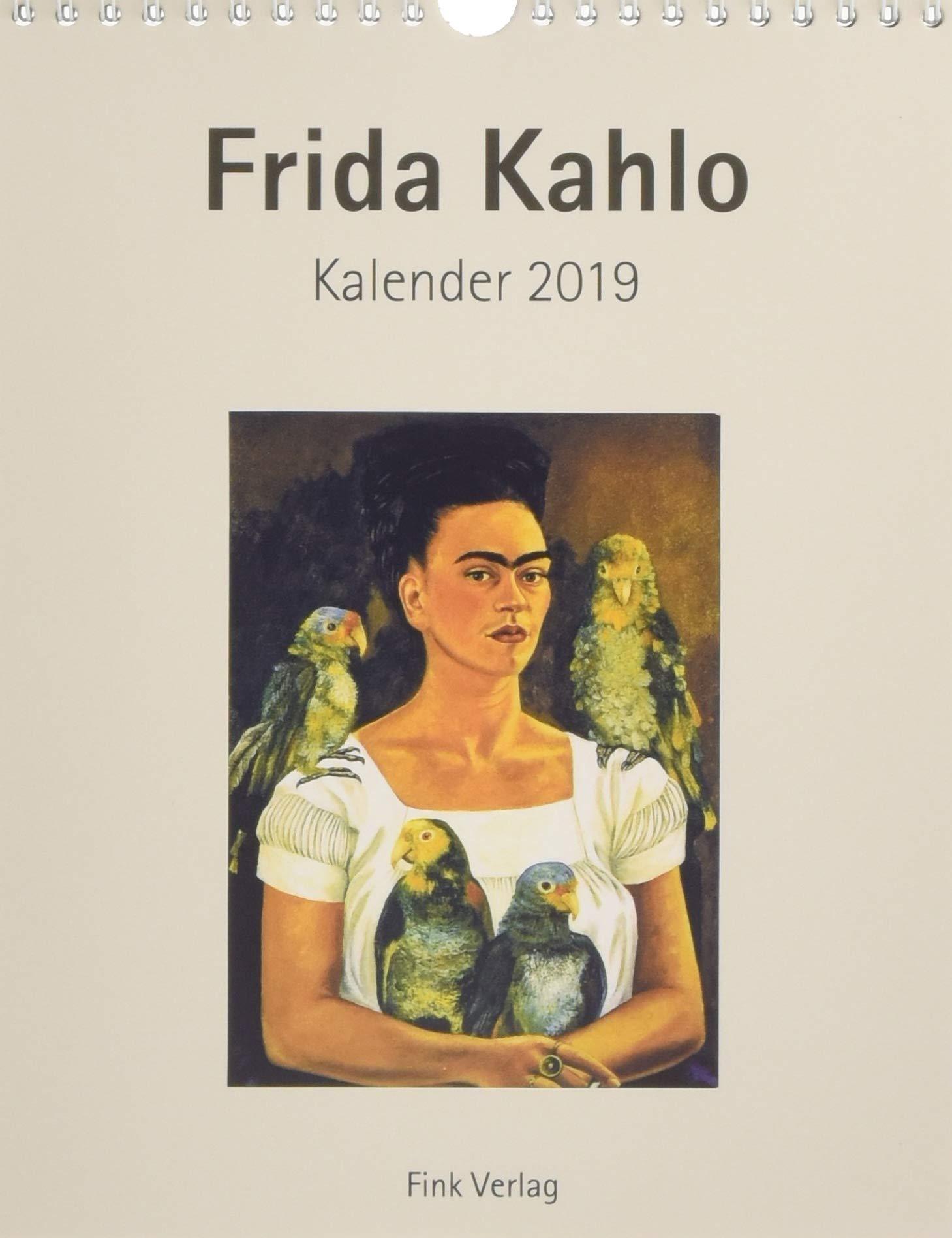 Frida Kahlo 2019. Kunstkarten-Einsteckkalender: Amazon.es ...